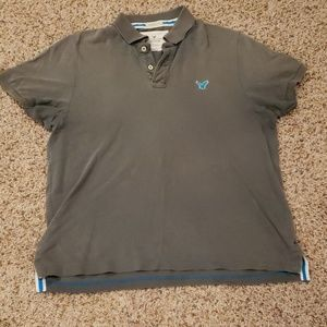 American Eagle gray polo